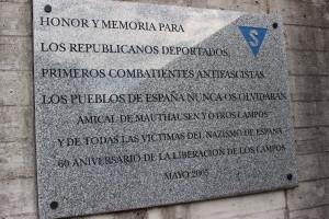 Placa memorial a Gusen