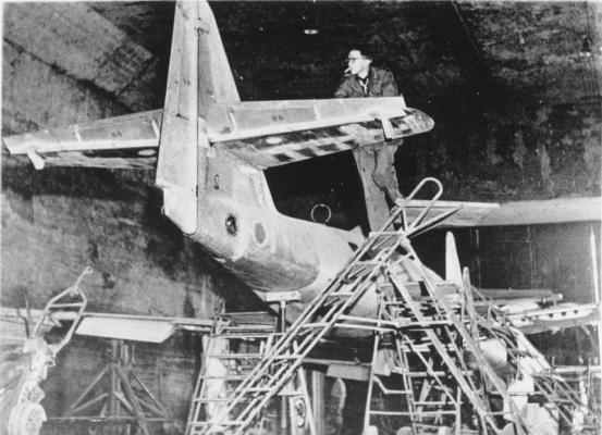 Unterirdische Produktion von Me 262